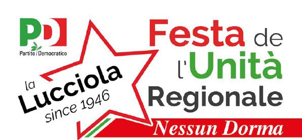 Programma Festa de l'Unità La Lucciola Villadossola. Dal 3 al 17 agosto 2019