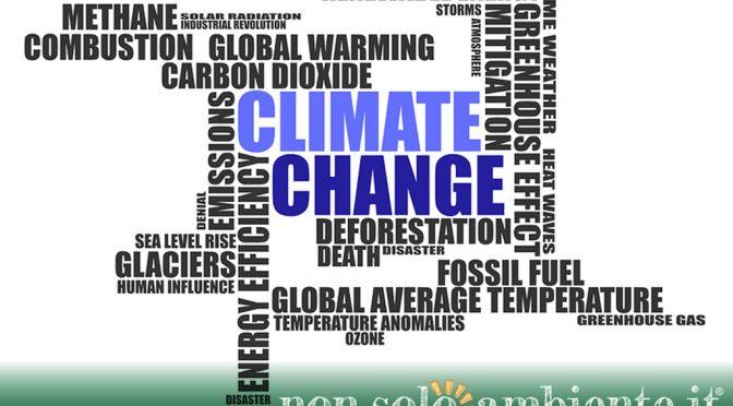 LA GRANDE OCCASIONE. Contrastare i cambiamenti climatici