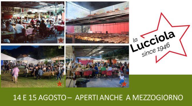 Festa de l'Unità La Lucciola a Villadossola  il 14 e 15 agosto 2020