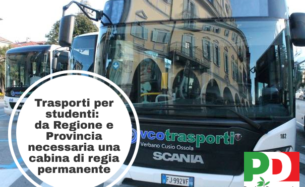 Trasporti scolastici: urgente istituire una cabina di regia.