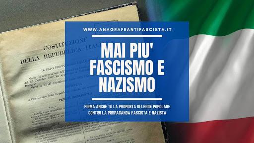 Raccolta firme contro la propaganda e la diffusione di messaggi inneggianti a fascismo e nazismo